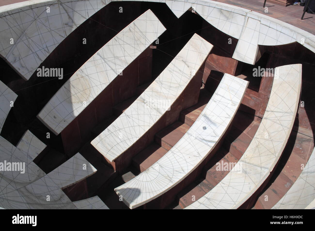 Jai Prakash Yantra, Jantar Mantar astronomical observatory, Jaipur, Rajasthan, India, Indian subcontinent, South - Stock Image