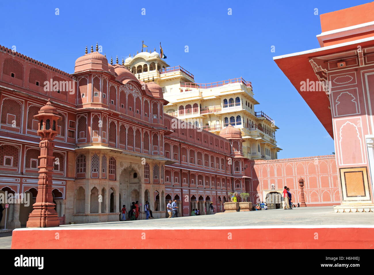 Riddhi-Siddhi Pol and Chandra Mahal, City Palace, Jaipur, Rajasthan, India, Indian subcontinent, South Asia Stock Photo
