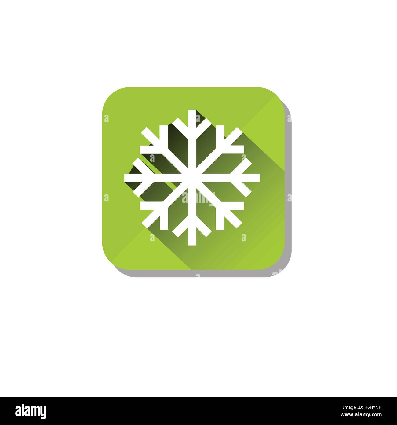 Ice Road Safety Sign Icon Flat Vector Illustration - Stock Image