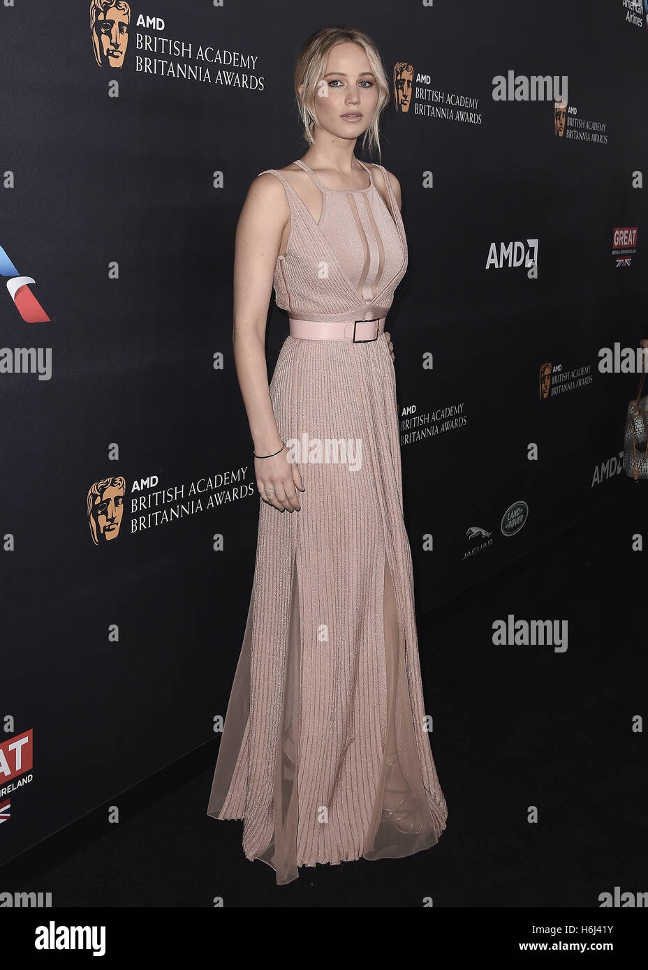 BEVERLY HILLS, CA - OCTOBER 28:  Jennifer Lawrence at the 2016 BAFTA Los Angeles Britannia Awards at the Beverly - Stock Image