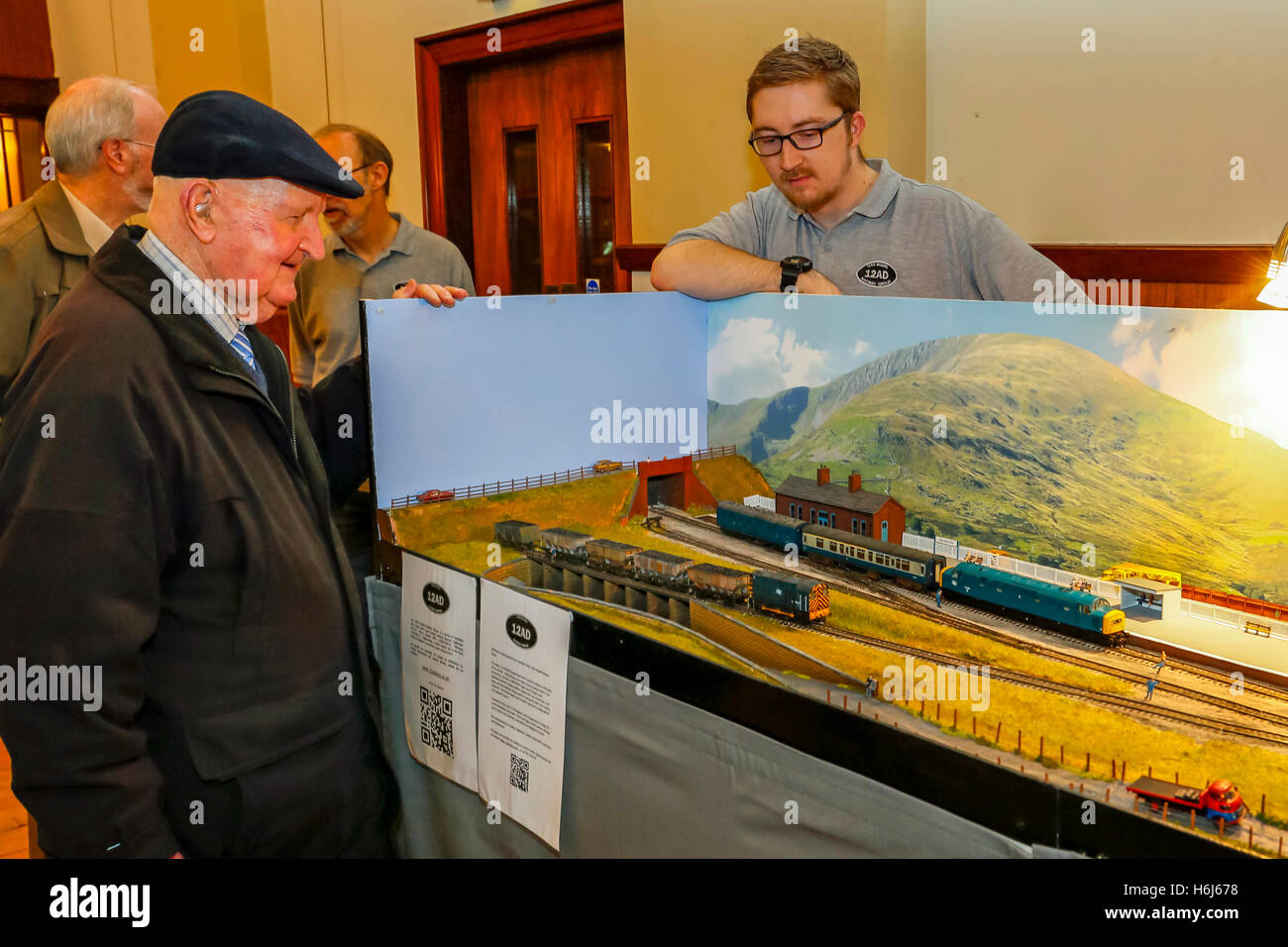 Glasgow, Scotland, UK. 29th October, 2016. On the opening day, of the two day annual Cathcart Model Railway Exhibition - Stock Image