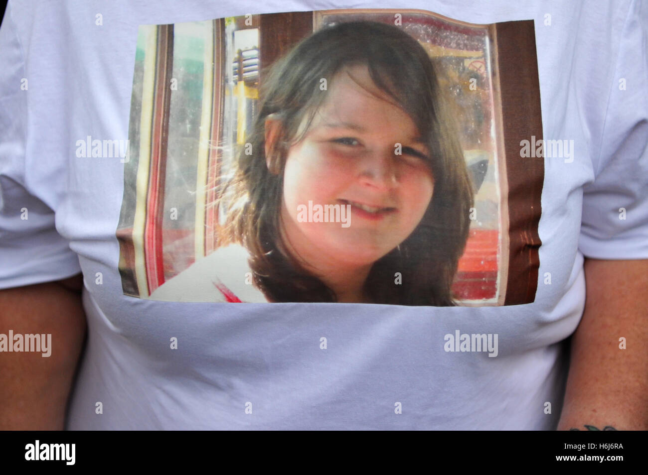 London, UK. 29th October, 2016. A picture of 14 year old Amy El-Keria who died while in secure accommodation on - Stock Image