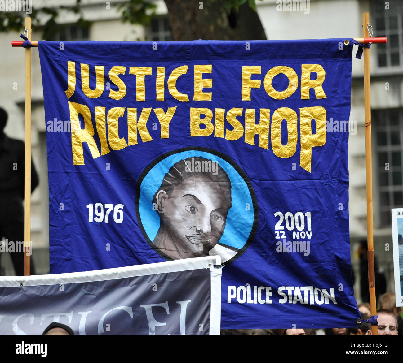 London, UK. 29th October, 2016. One of the banners brought on the annual remembrance procession and protest march - Stock Image