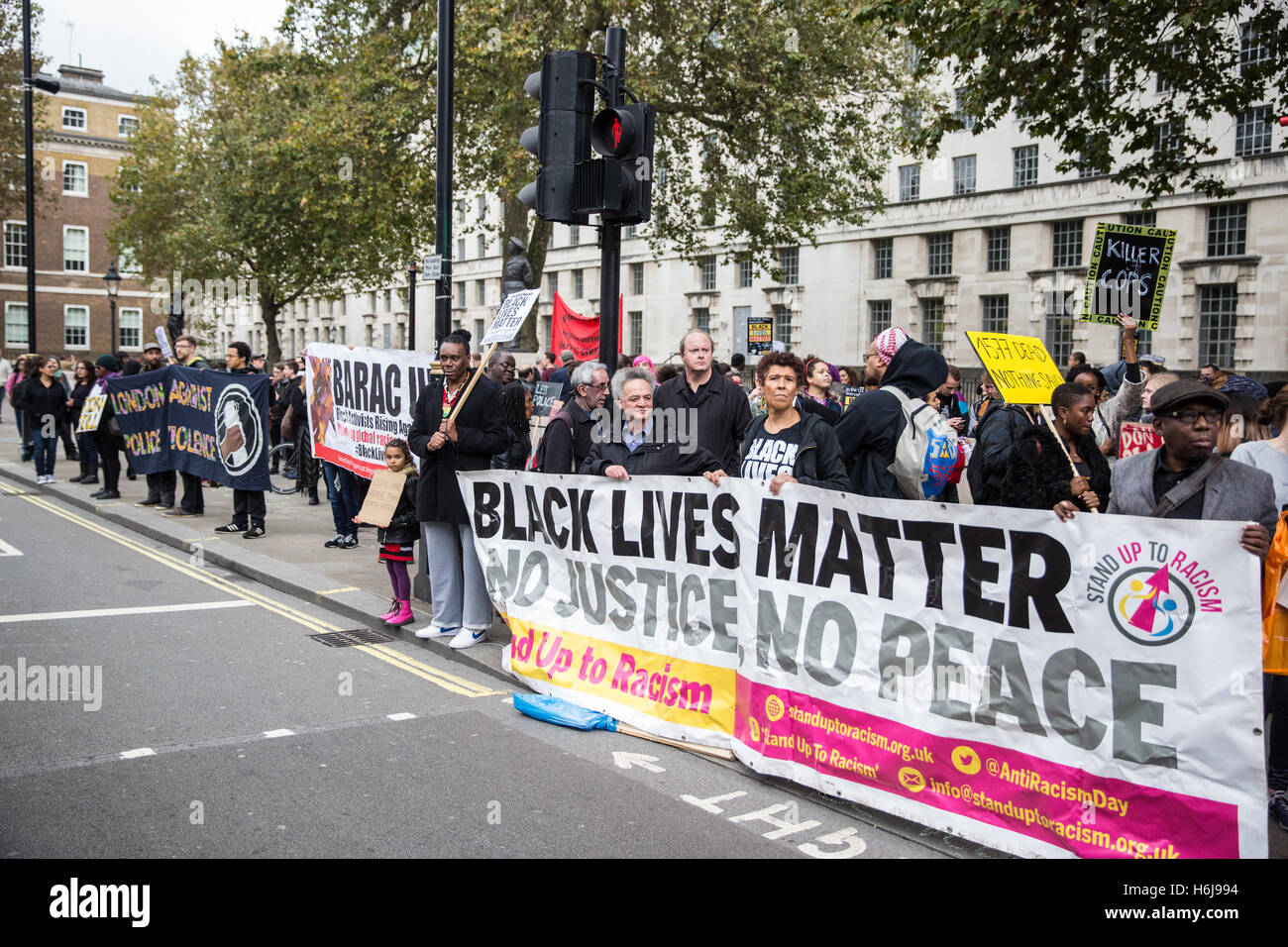 London, UK. 29th October, 2016. Black Lives Matter campaigners join the United Families and Friends Campaign (UFFC) - Stock Image