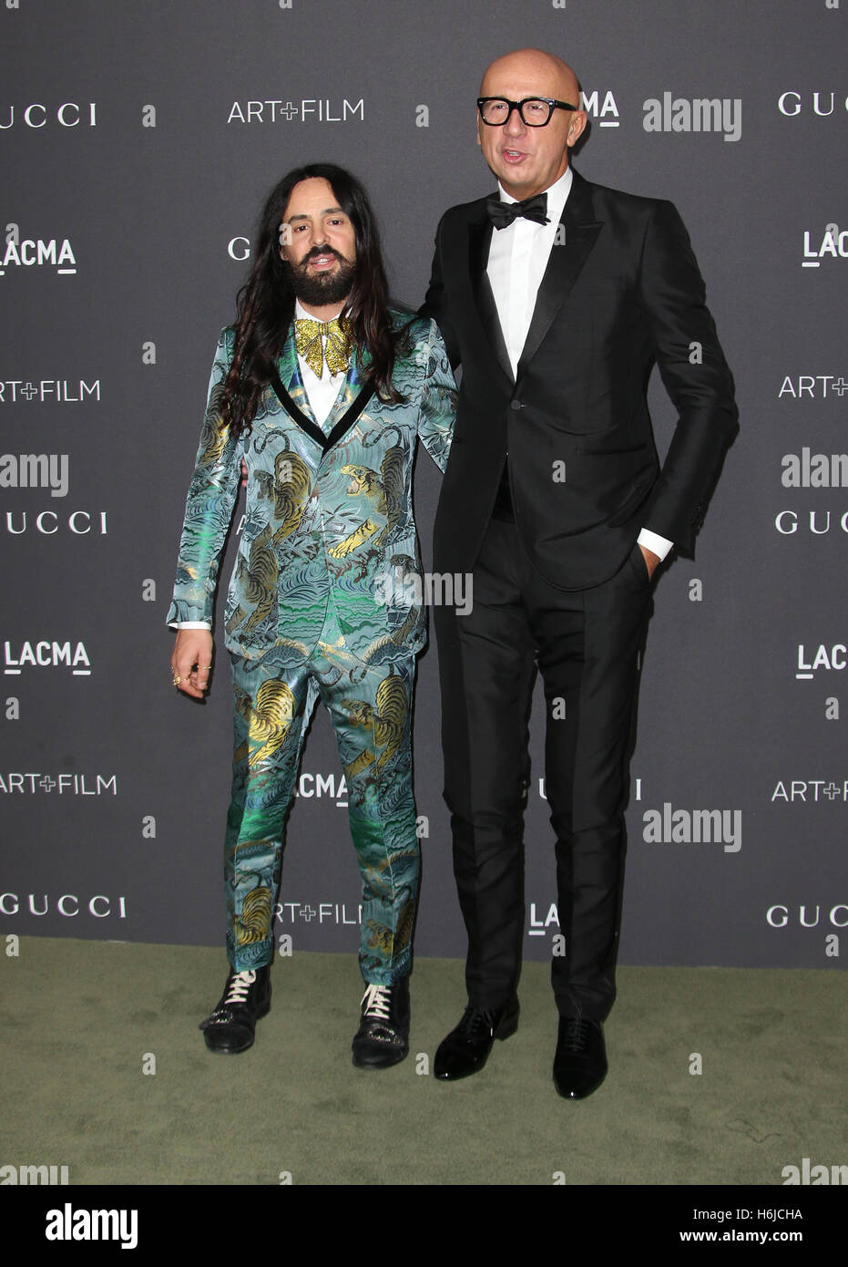 bcdf3b92f7ce7 Los Angeles, CA - OCTOBER 29  Alessandro Michele, Marco Bizzarri at the  2016 LACMA Art + Film Gala Honoring Robert Irwin And Kathryn Bigelow  Presented By ...