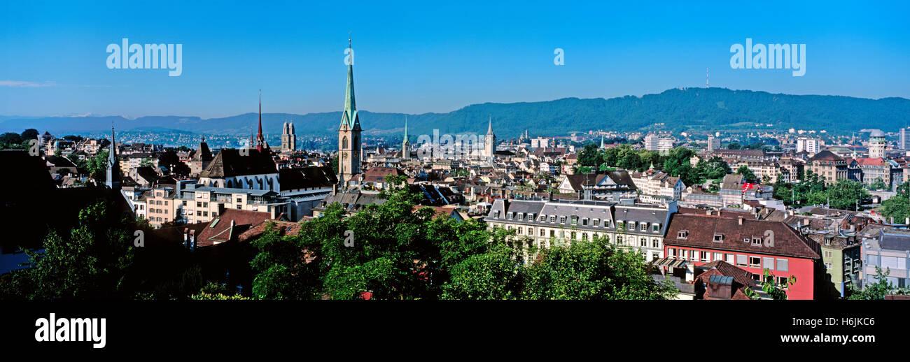 Skyline of Zurich, Switzerland - Stock Image