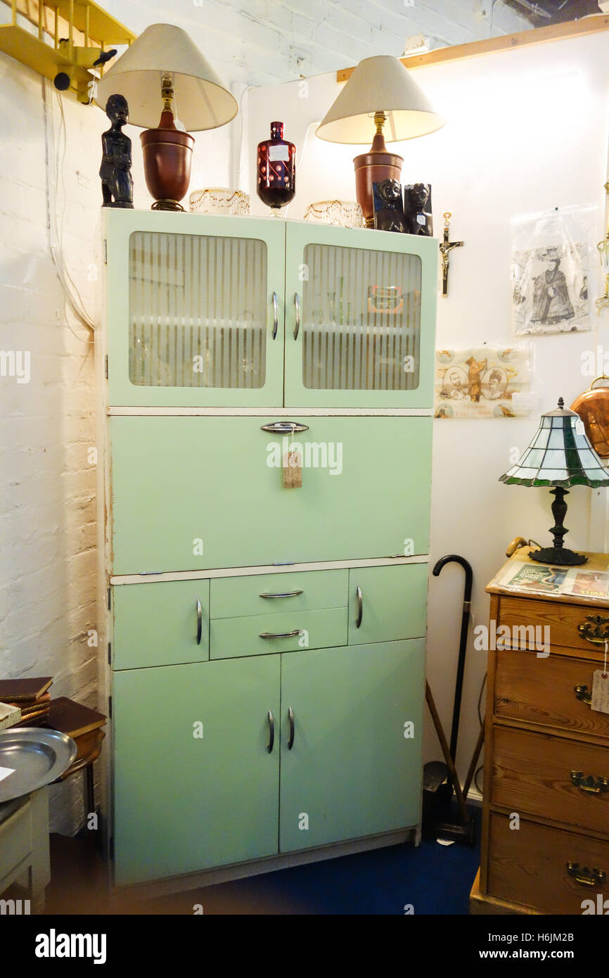 hygena kitchen kitchenette cabinet in pale green from the 1950s ...