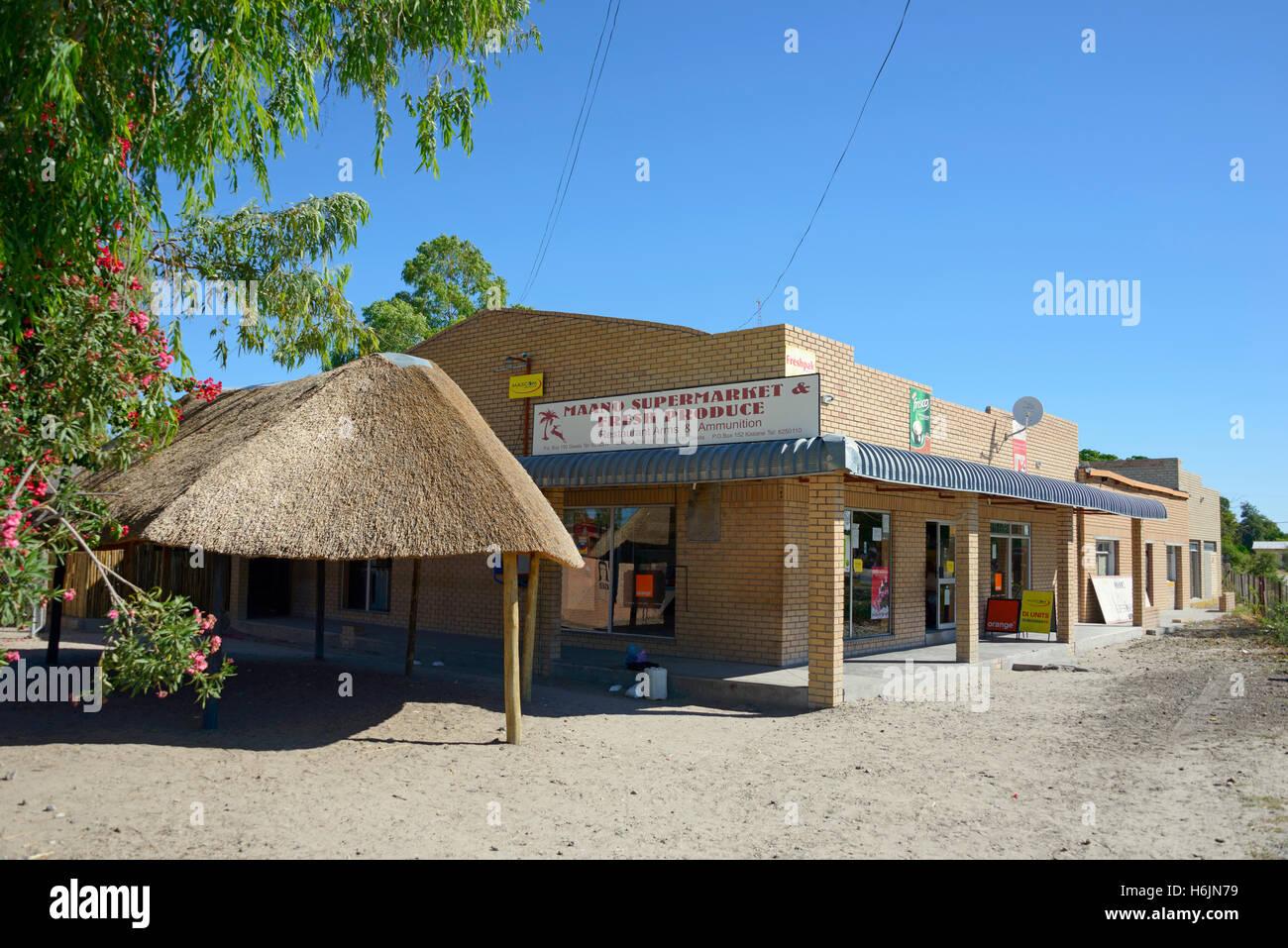 Grocery store in Gweta, Botswana - Stock Image