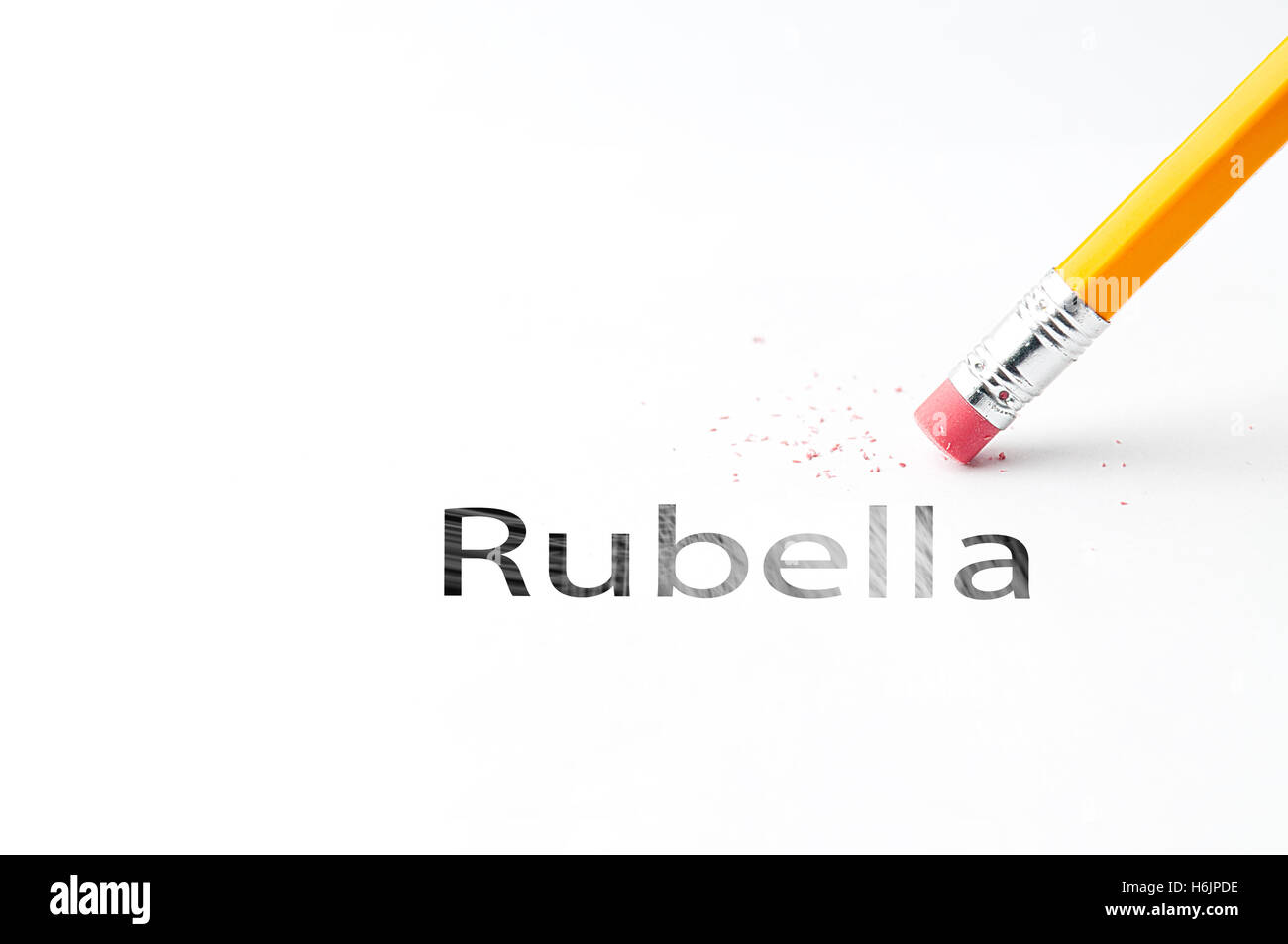 Pencil with eraser - Stock Image