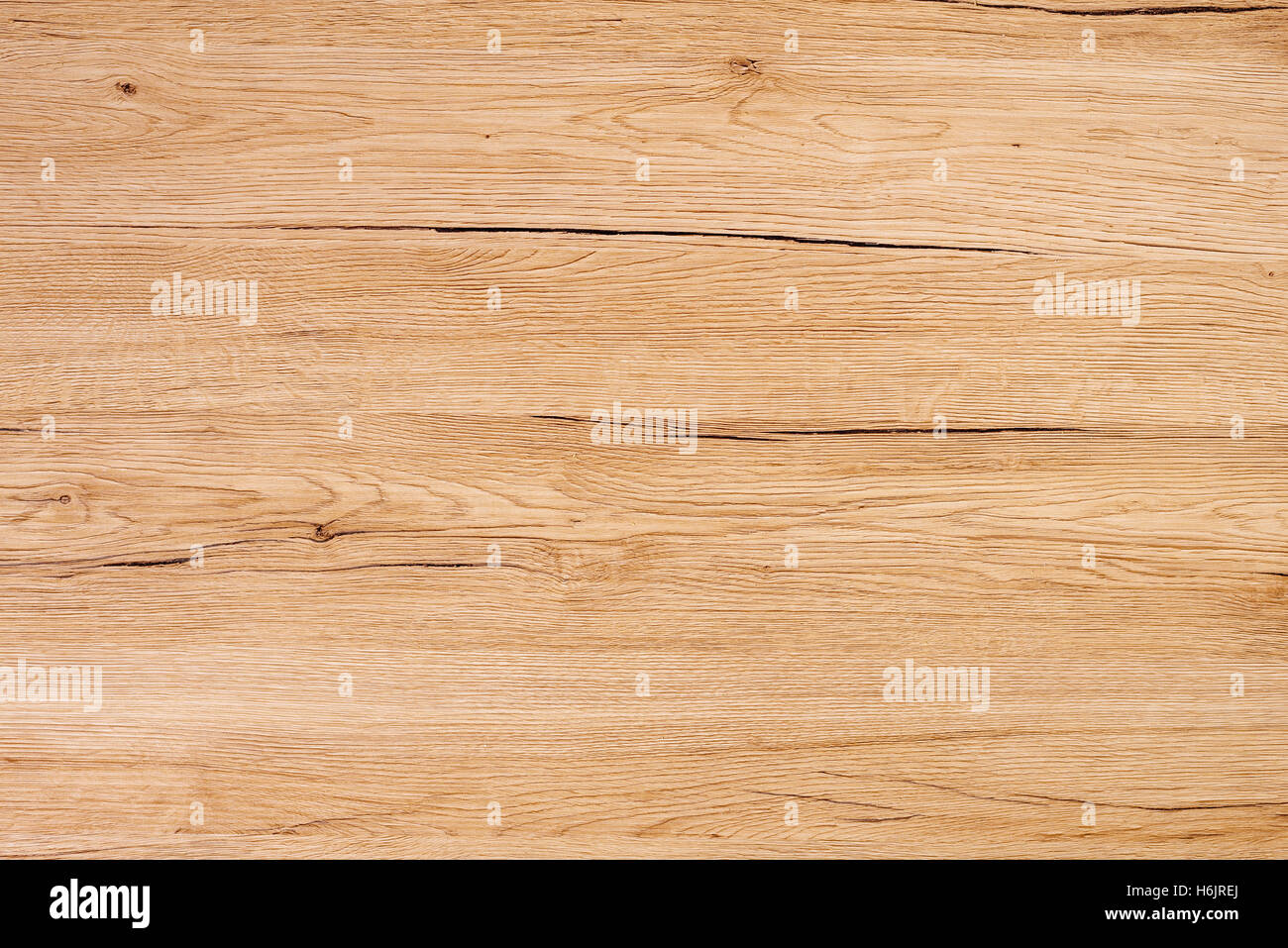 Rustic wooden surface, table top view texture as background - Stock Image