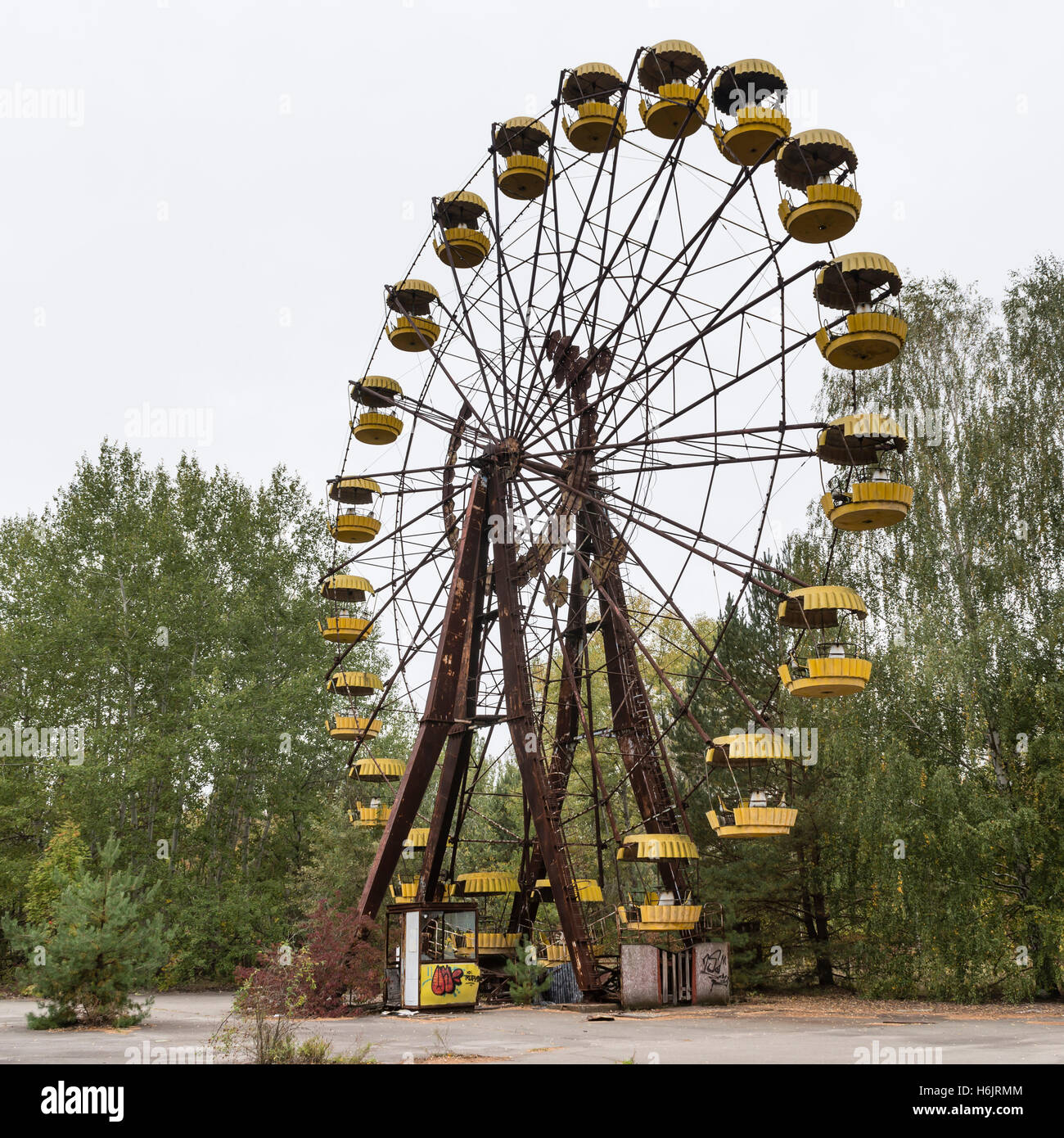 Chernobyl ferris wheel Stock Photo