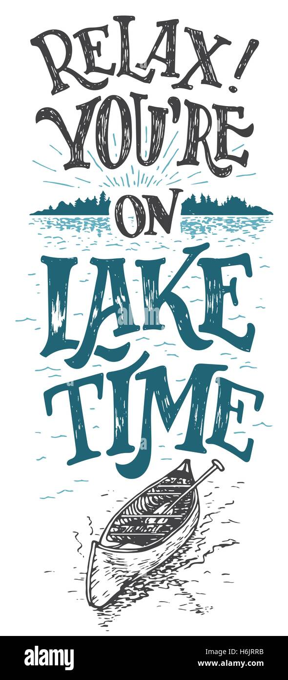 Relax You Are On Lake Time House Decor Sign Rustic Wall Lakeside Living Cabin Cottage Hand Lettering Quote