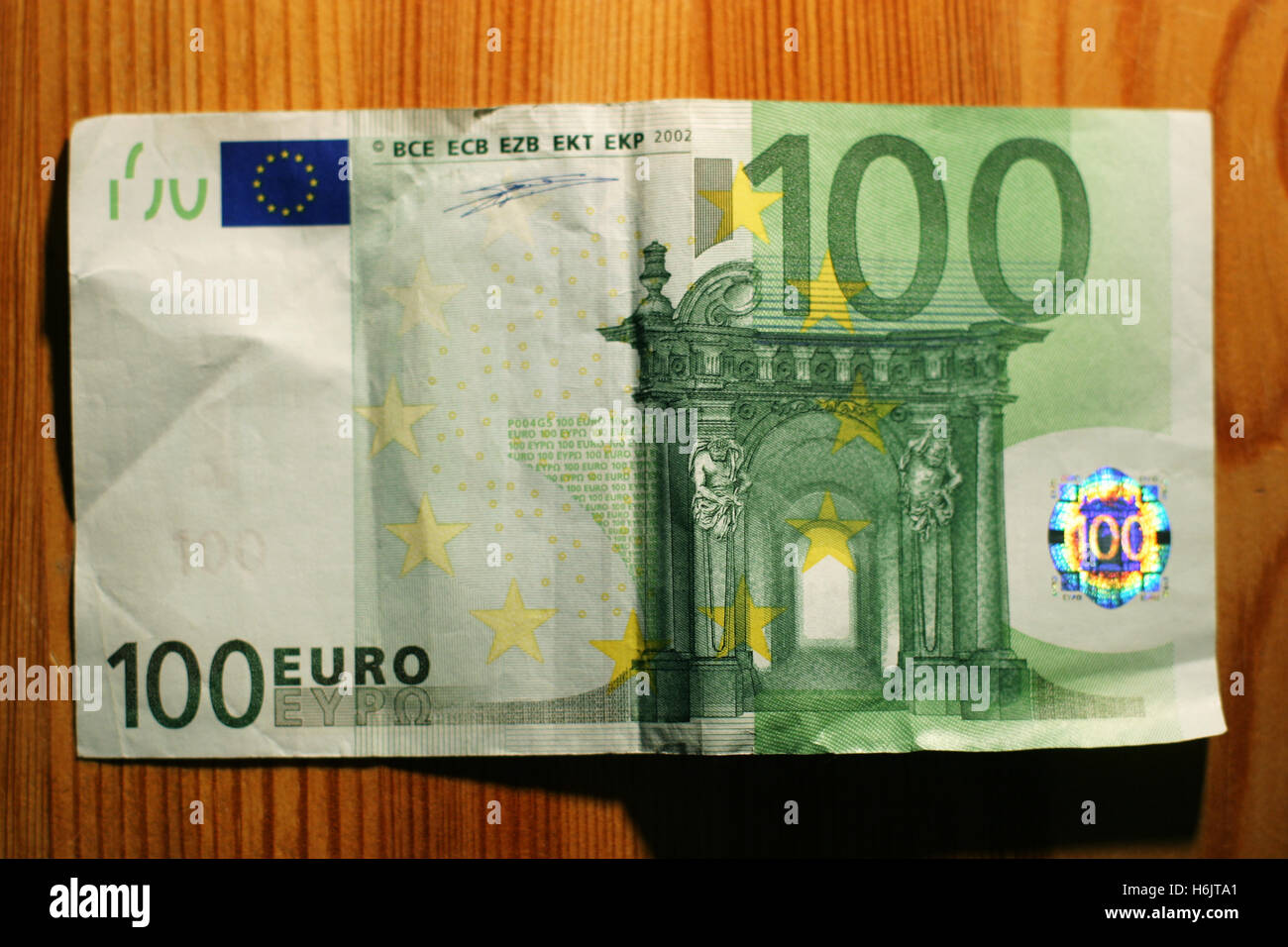 one hundred euro note - Stock Image