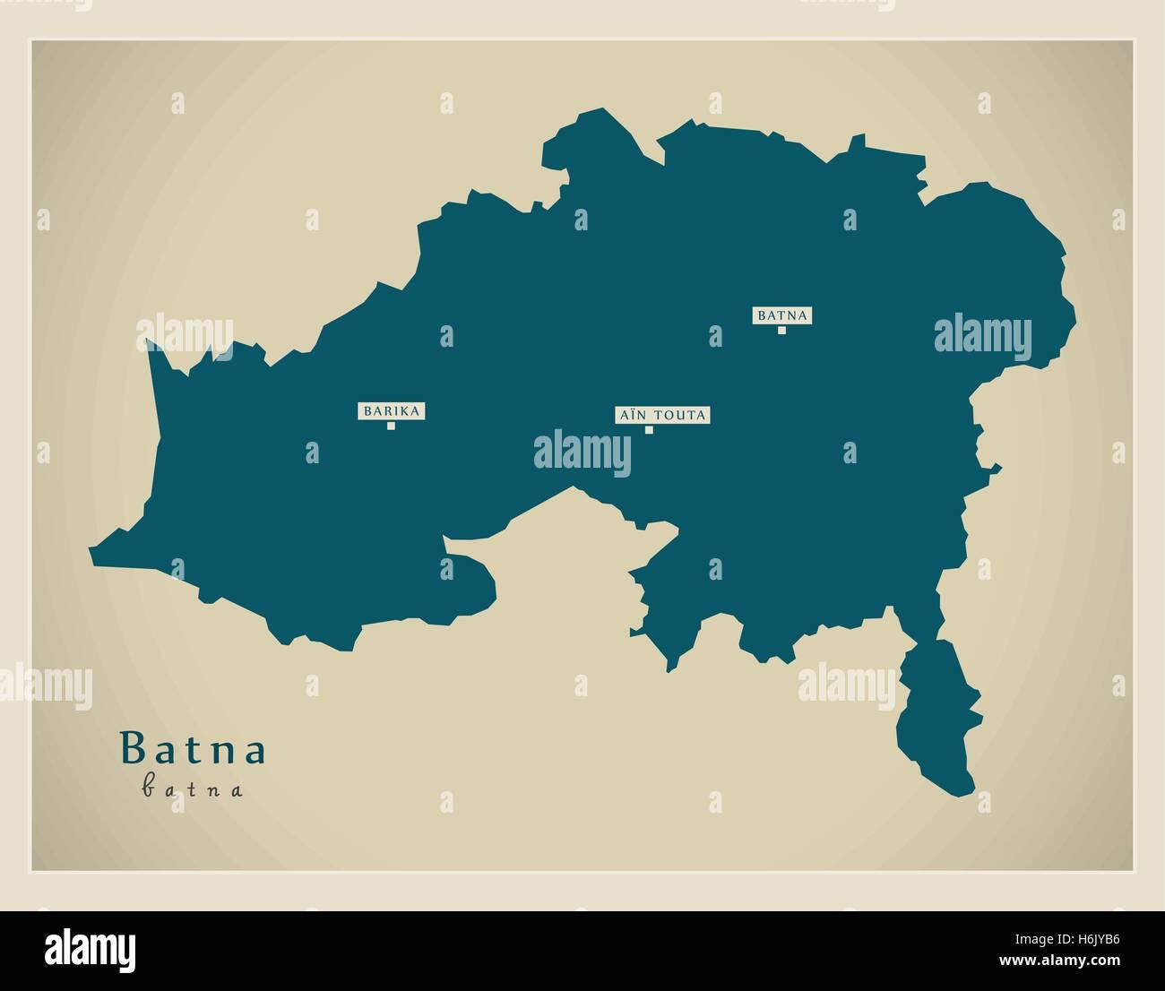 Modern Map - Batna BZ Stock Vector Art & Illustration, Vector Image ...