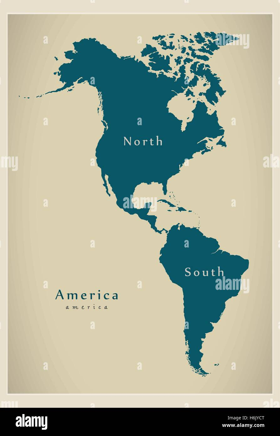 North South America Map Mexico Stock Vector Images - Alamy