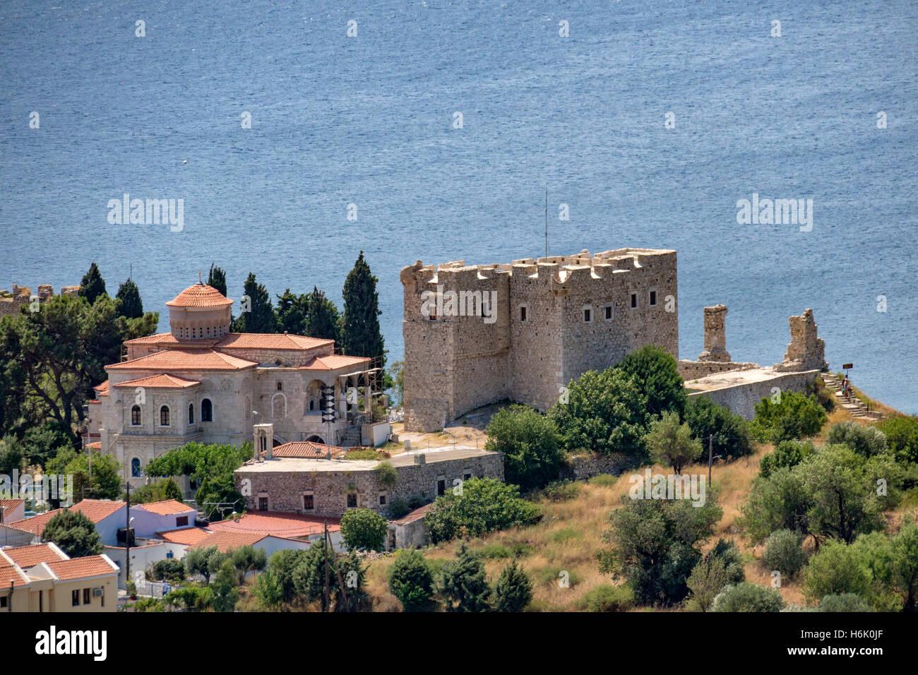 Lykourgos Logothetis Castle Pythagorion Samos Greece Stock Photo