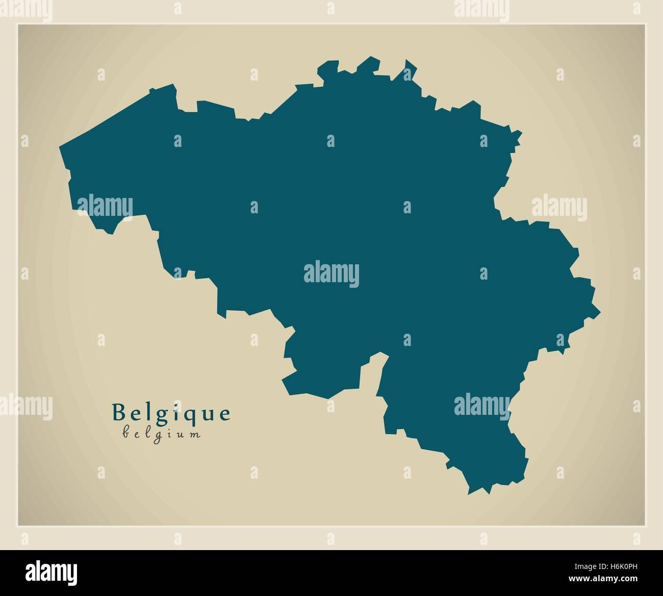 modern map belgium be stock image