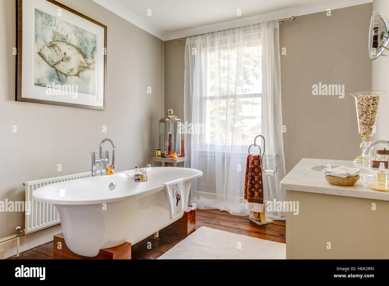 Elegant bathroom in modernised Victorian Villa in Torquay Devon Uk ...