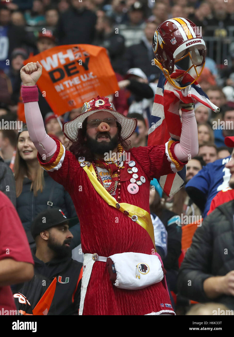 c31267e1 Washington Redskins fans during the NFL International Series match ...