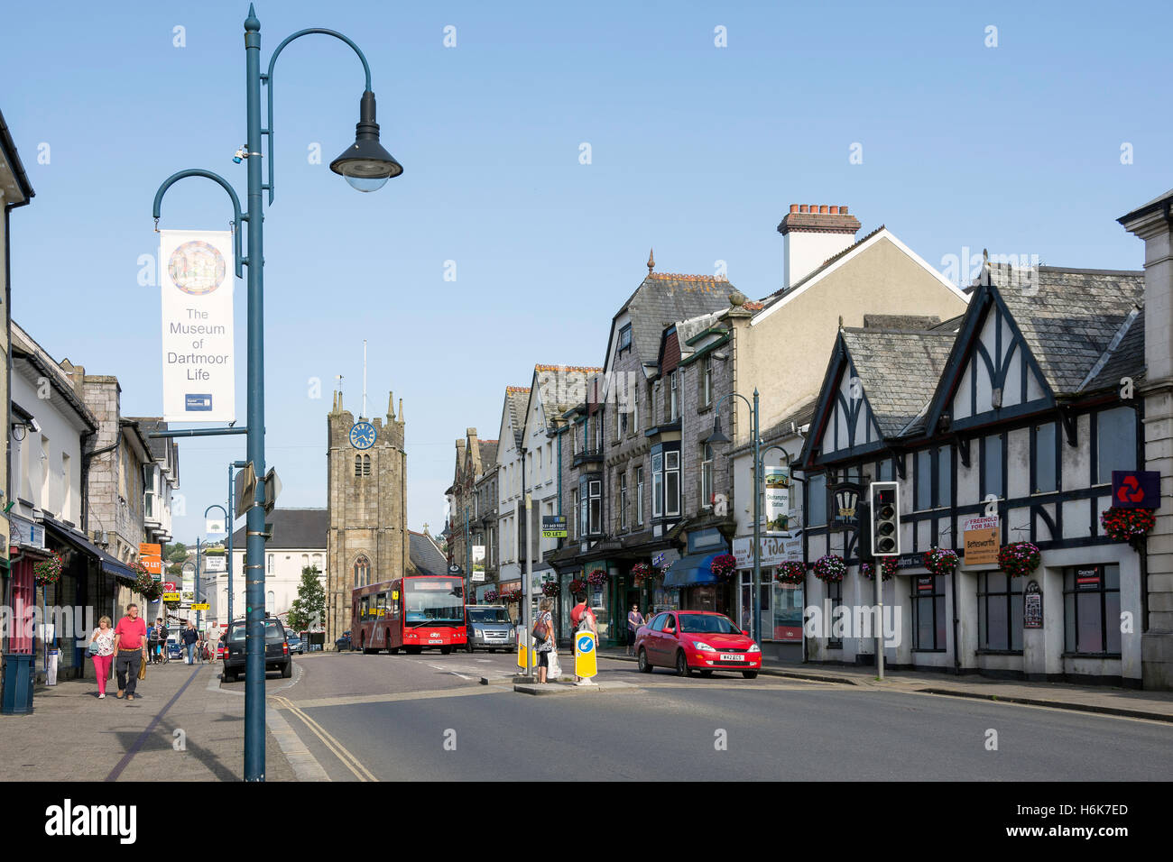 Fore Street, Okehampton, Devon, England, United Kingdom - Stock Image