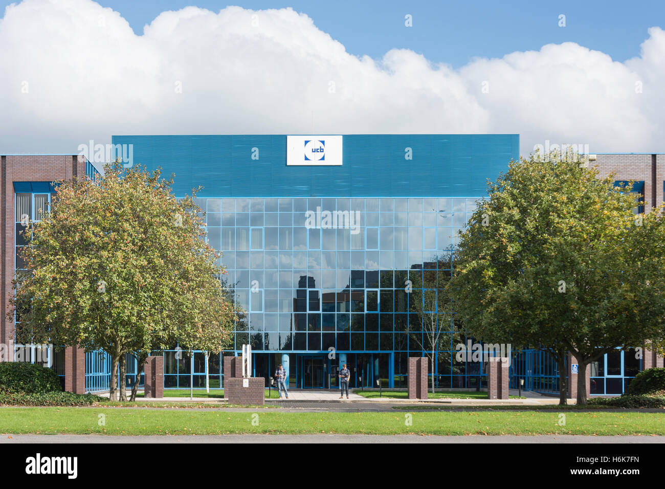 UCB (Investments) Ltd, Slough Trading Estate, Bath Road, Slough, Berkshire, England, United Kingdom - Stock Image