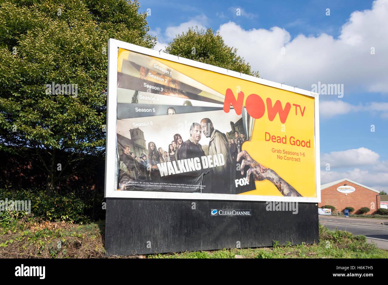 Advertising billboard, Bath Road (A4), Slough, Berkshire, England, United Kingdom - Stock Image