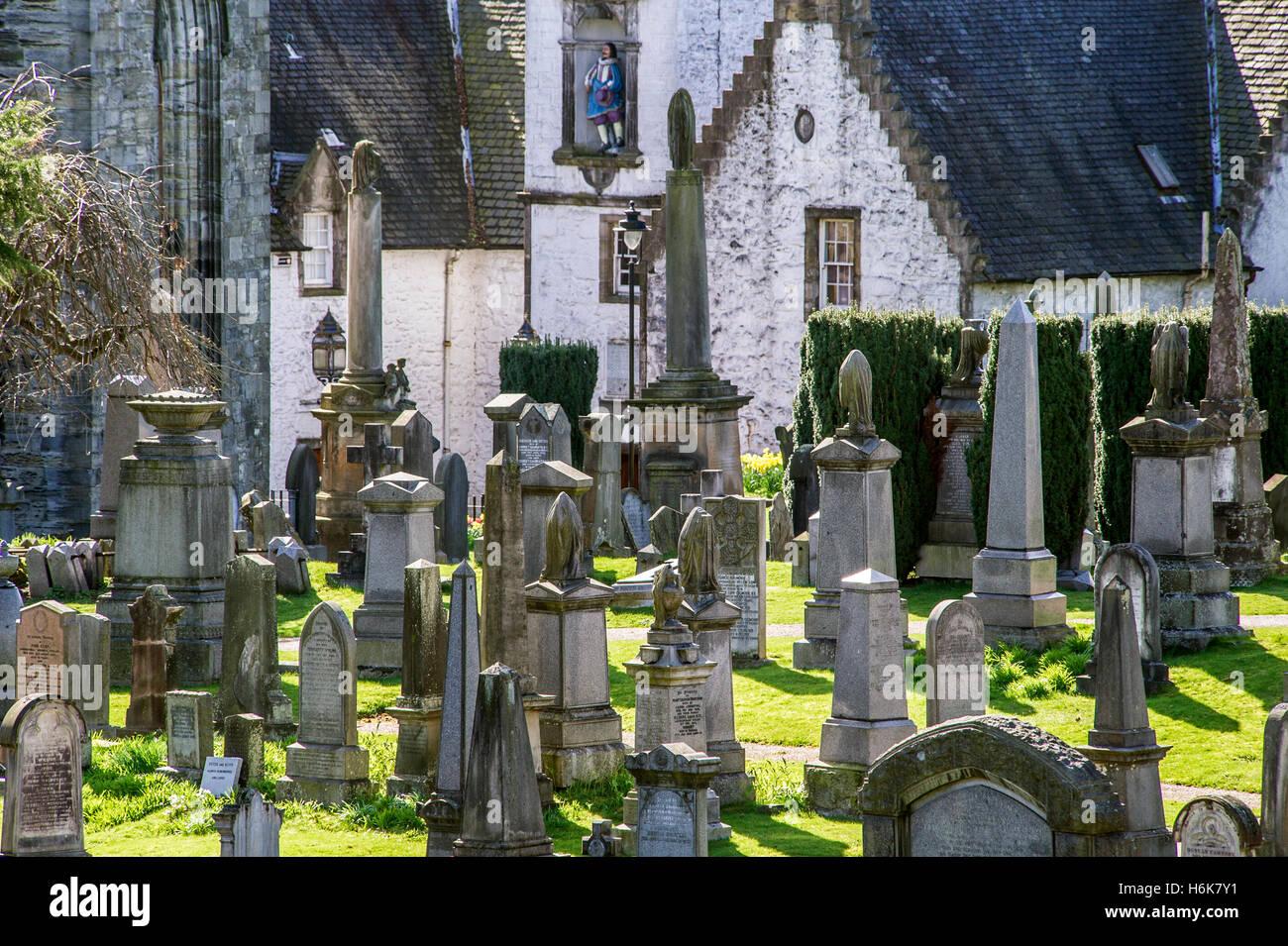 cemetery near Stirling Castle, Scotland Stock Photo
