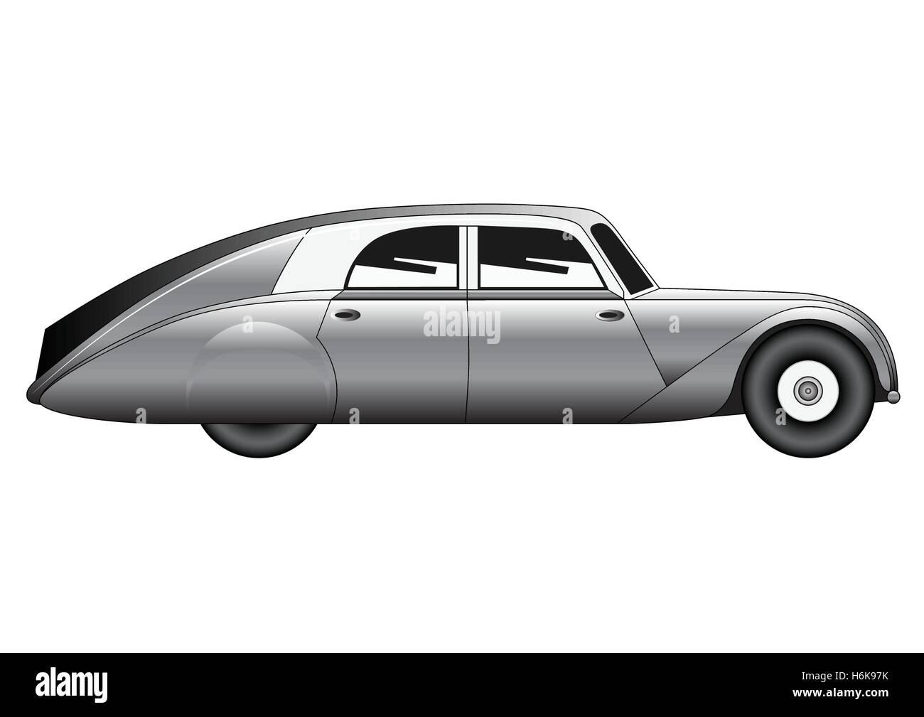 Sedan - vintage model of car - Stock Image