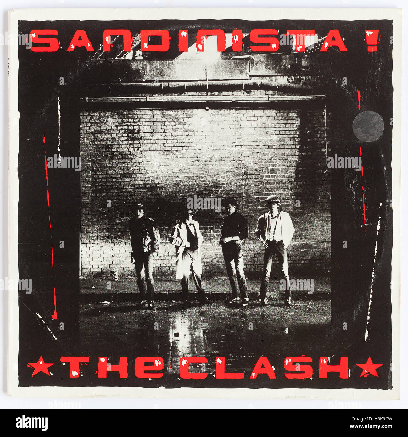 Cover of 'Sandinista', 1980 triple album by The Clash, on Epic - Stock Image