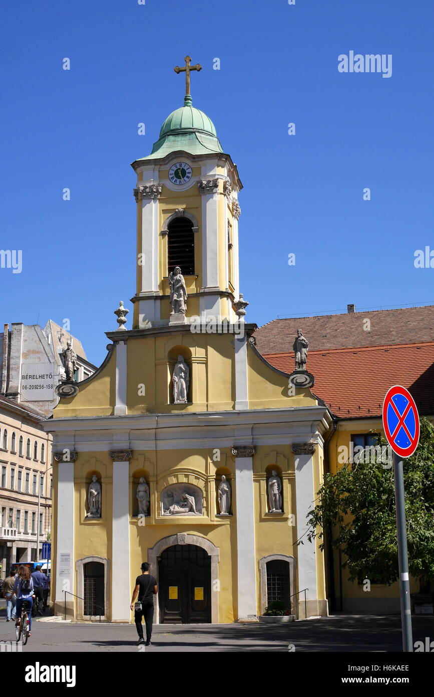 St Rokus Church, Rakoczi ut, Budapest, Hungary - Stock Image