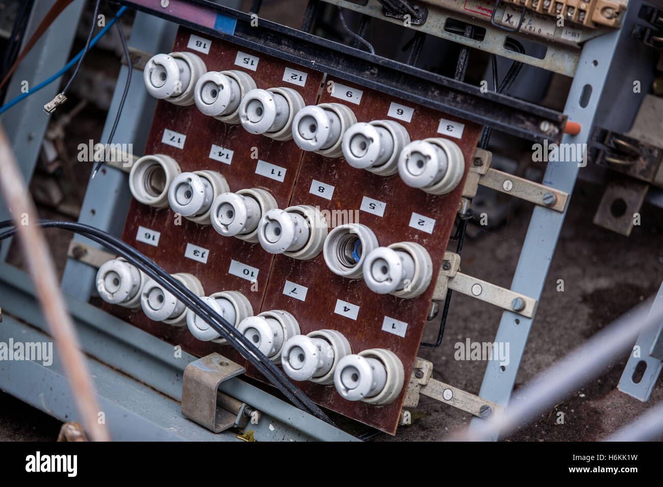 main fuse stock photos & main fuse stock images - alamy old apartment fuse box