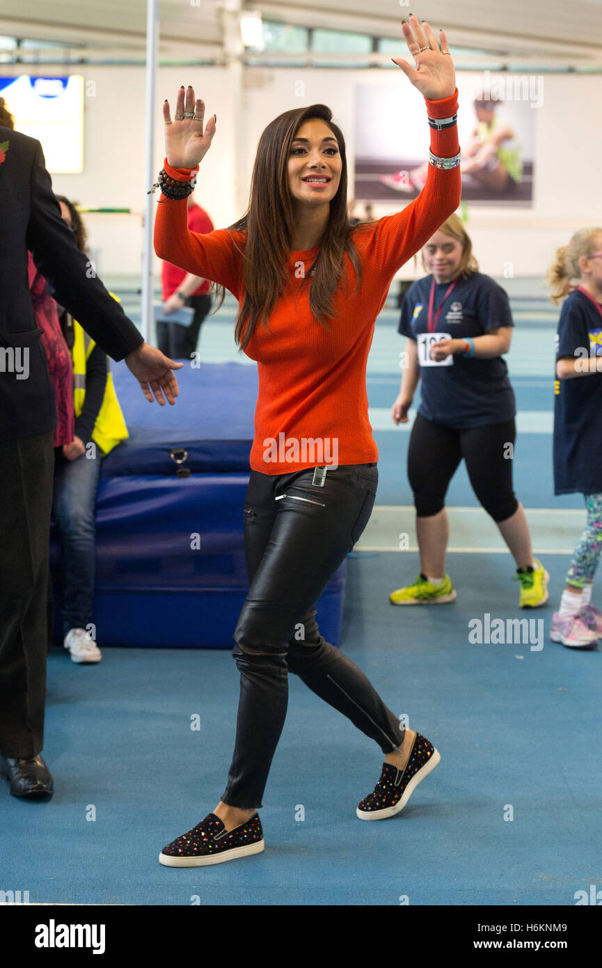 London, UK. 30th Oct, 2016. Special Olympics Event Global ambassador NICOLE SCHERZINGER attends London athletics - Stock Image