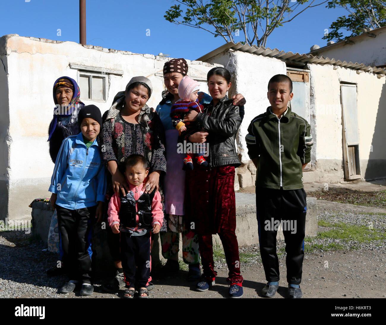 People of Kamashi, Uzbekistan. De mensen van Kamashi, Oezbekistan. Stock Photo