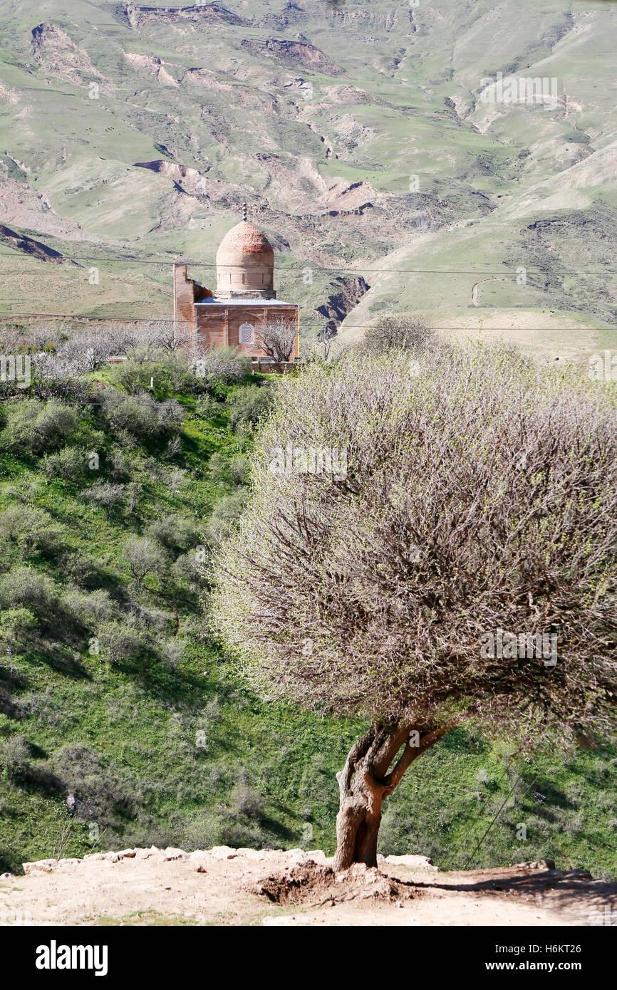 The remote farmers village of Langar in Uzbekistan. Het afgelegen dorp Langar in Oezbekistan. Stock Photo