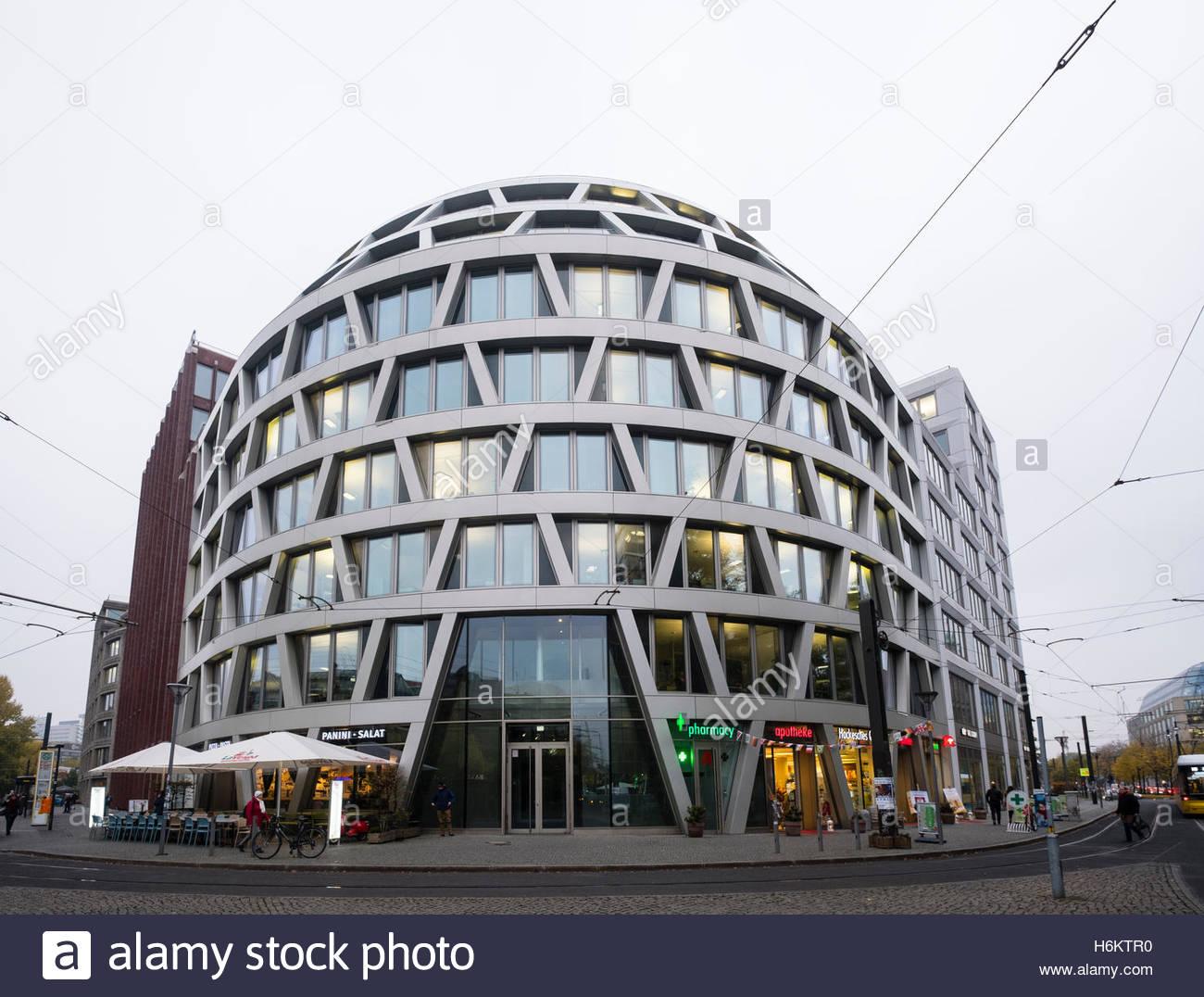 Modern architecture office building at hackescher mart in mitte