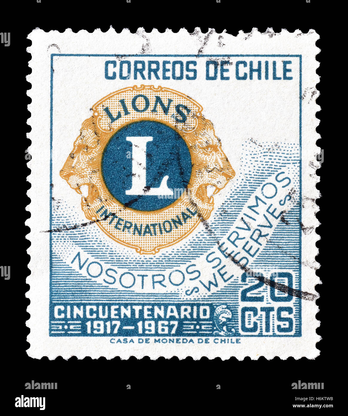 Chile Stamp 1967 Stock Photo 124597127
