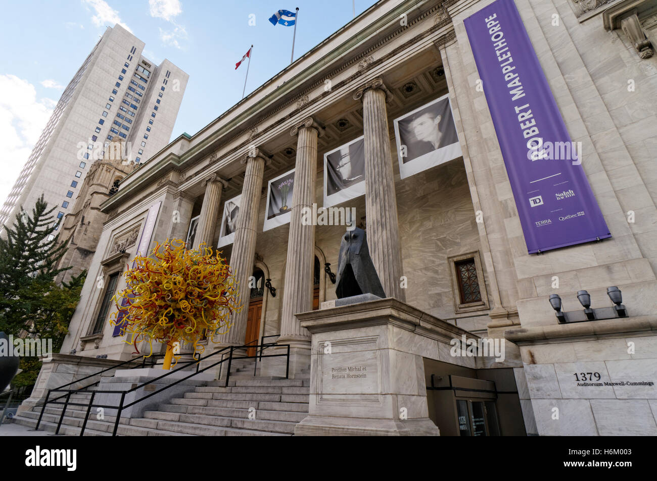 Montreal Museum of Fine Arts or Musee des Beaux-Arts, Montreal, Quebec, Canada Stock Photo