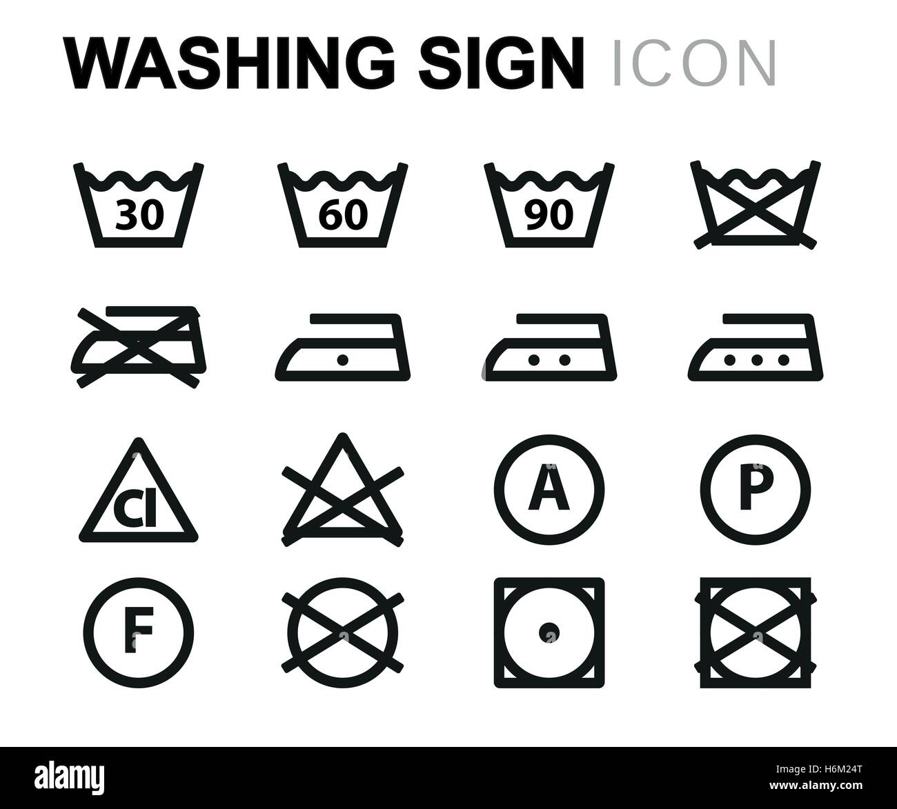 Washing Instructions Stock Vector Images Alamy