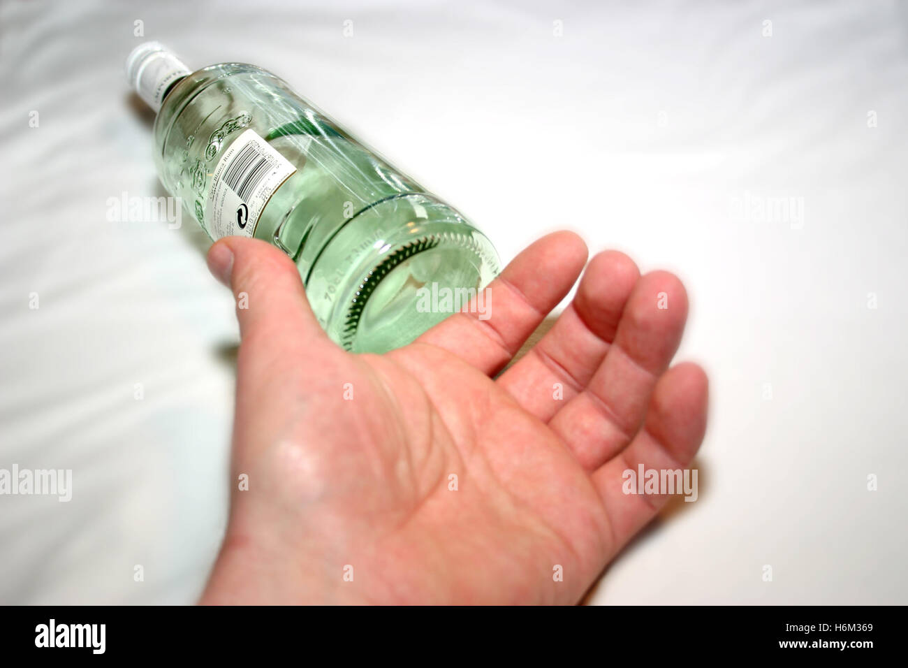 the last sip - Stock Image
