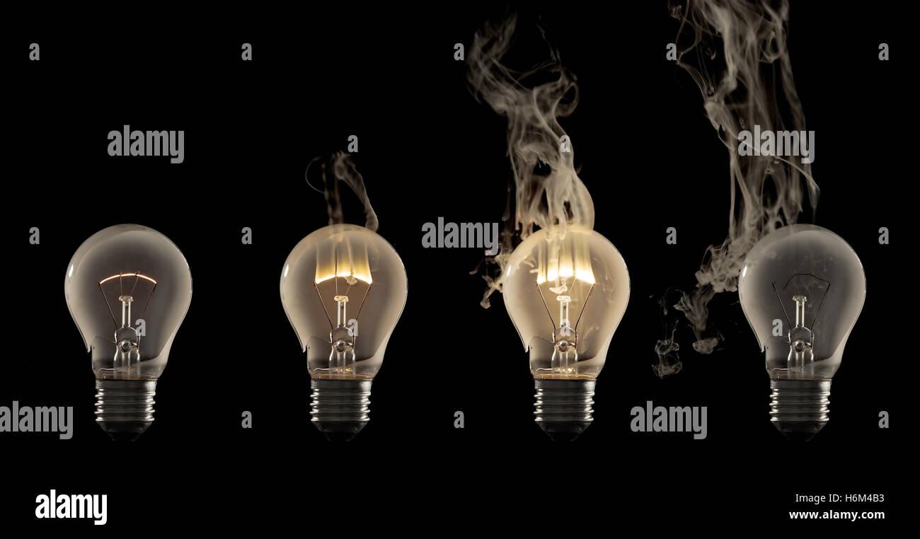 Burnt Out Light Bulb Stock Photos & Burnt Out Light Bulb