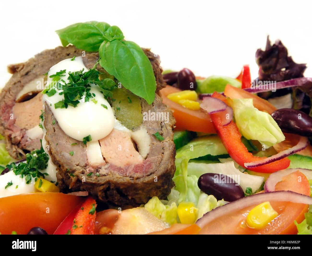 european food - Stock Image