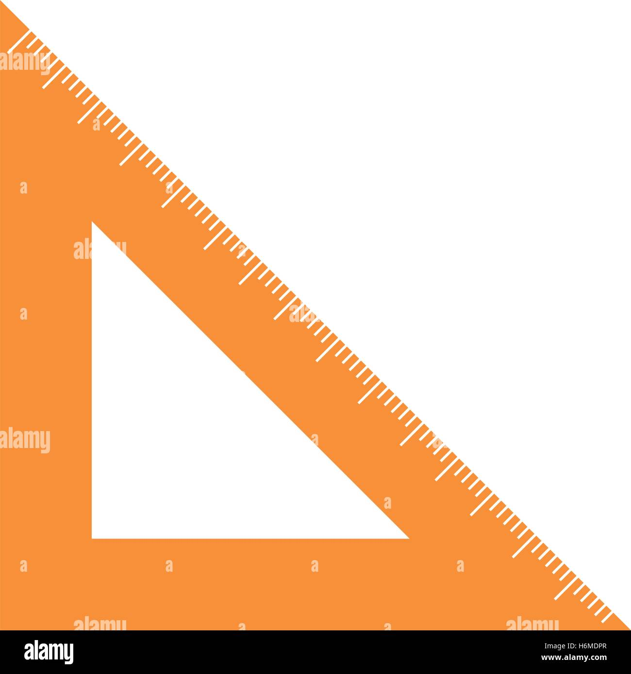 rule triangle isolated icon vector illustration design - Stock Vector