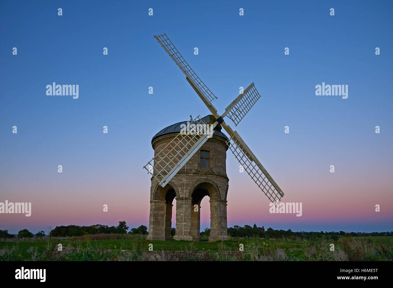 Chesterton Windmill in Warwickshire is a unique building in the landscape, designed by Sir Edmund Peyto - Stock Image