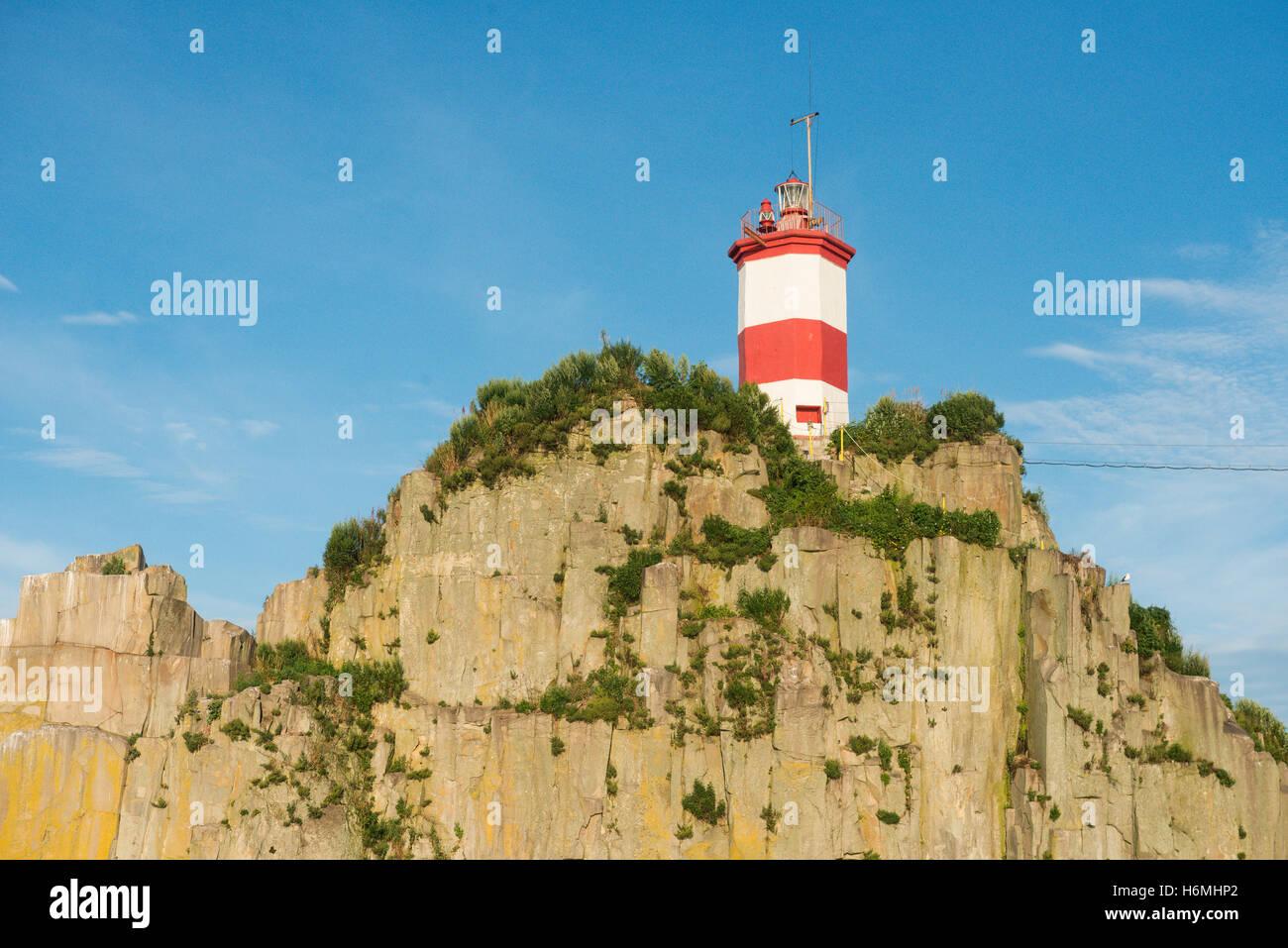 Basargin lighthouse in Vladivostok in Russia - Stock Image