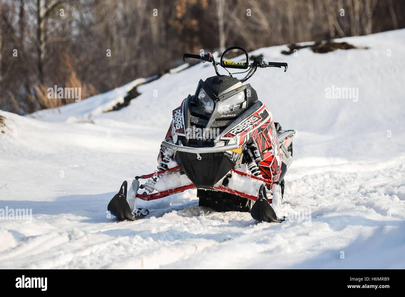 sports mountain snowmobile - Stock Image
