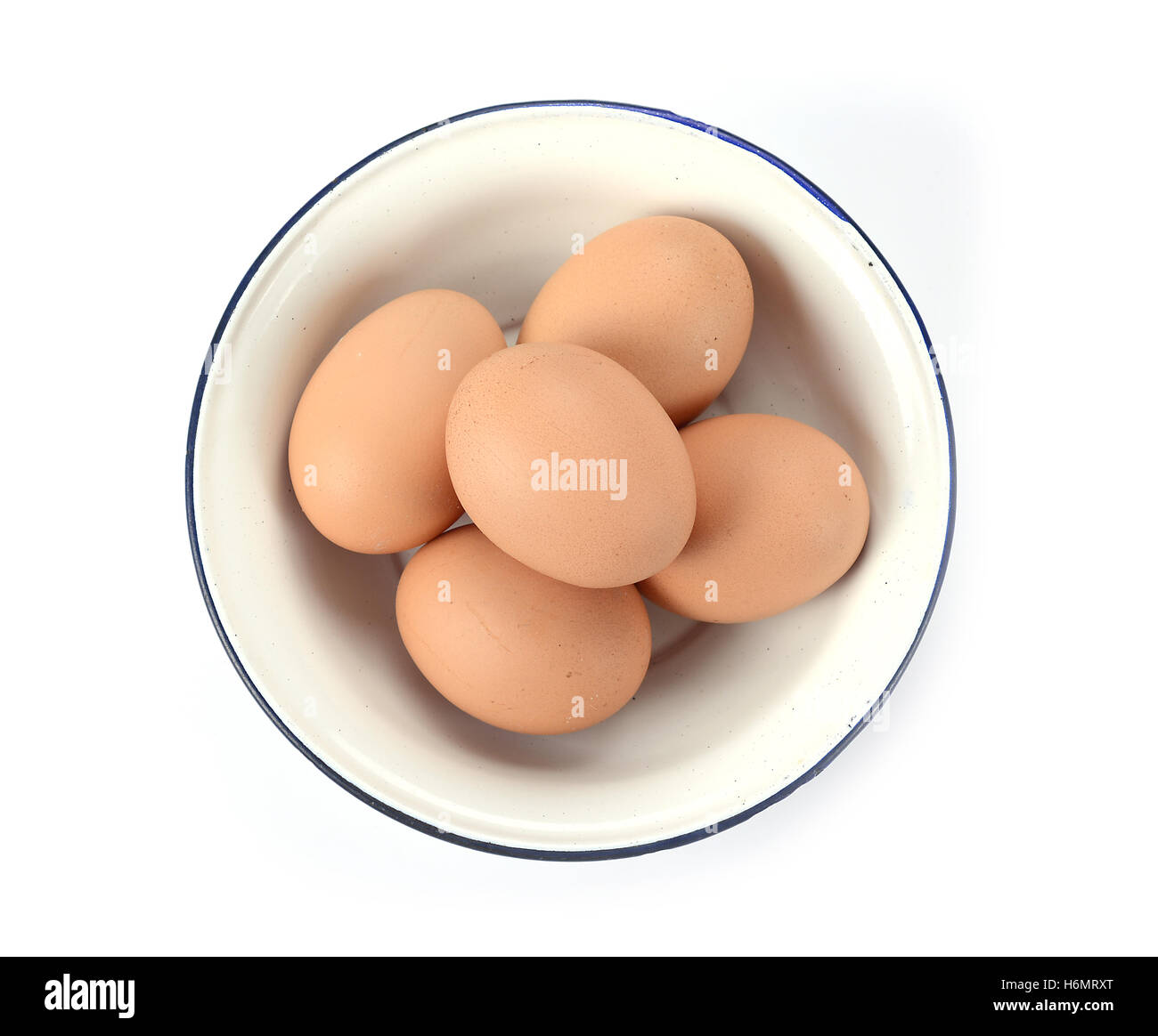 eggs in the bowl - Stock Image