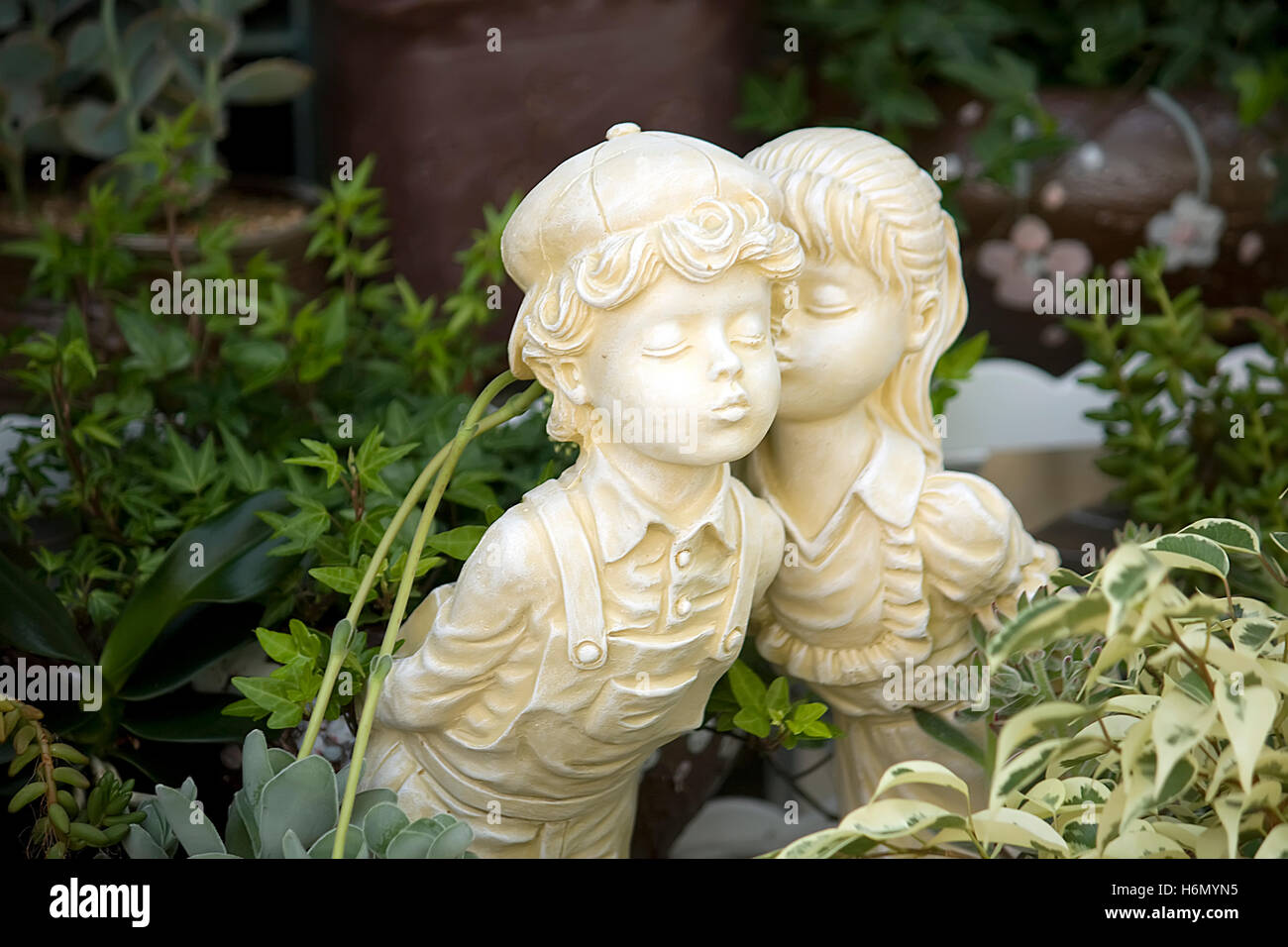 first kiss - Stock Image