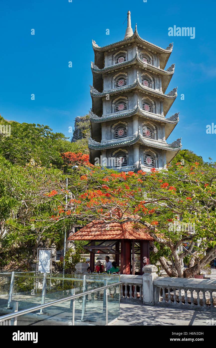 Xa Loi Tower on Thuy Son Mountain. The Marble Mountains, Da Nang, Vietnam. - Stock Image