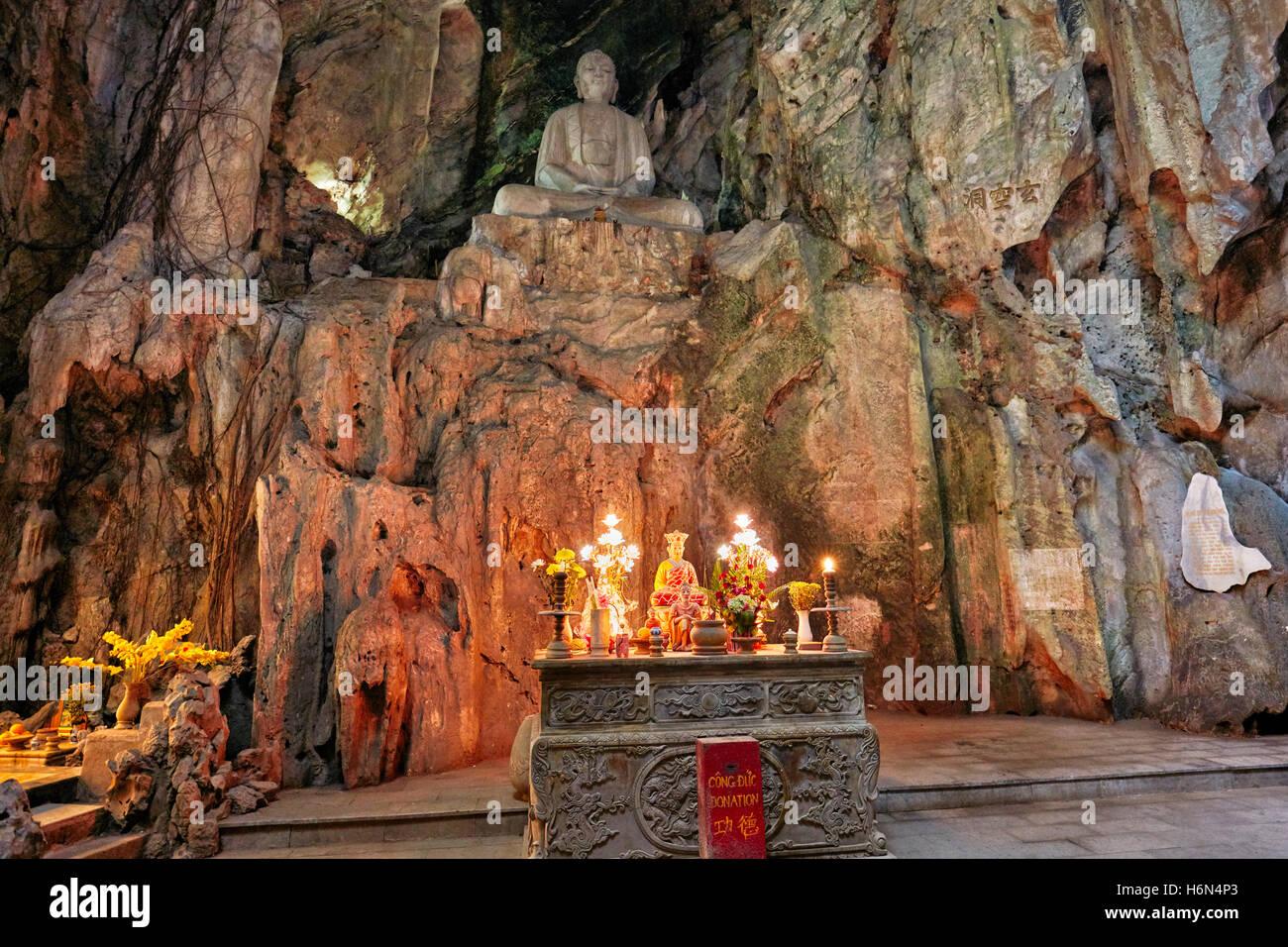 Huyen Khong Cave. Thuy Son Mountain, The Marble Mountains, Da Nang, Vietnam. - Stock Image