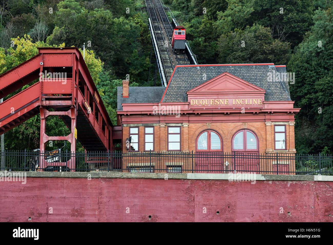 Duquesne Incline, Pittsburgh, Pennsylvania, USA. - Stock Image
